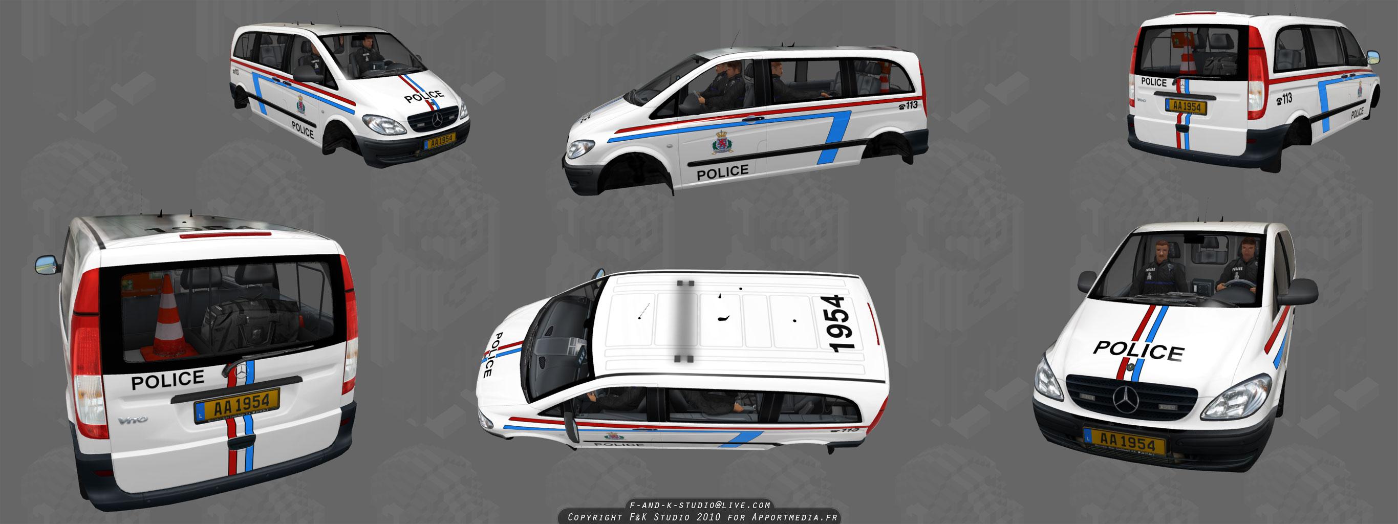Luxmmbourg Police Van