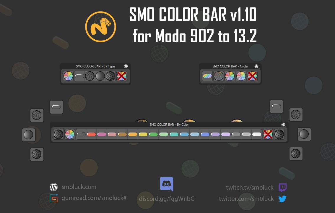 SMO COLOR BAR Kit v1 16 for Modo 902 to 13 2 - /2019-11-10
